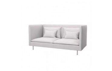 SÖDERHAMN Funda para sofá de 3 plazas, espalda alta