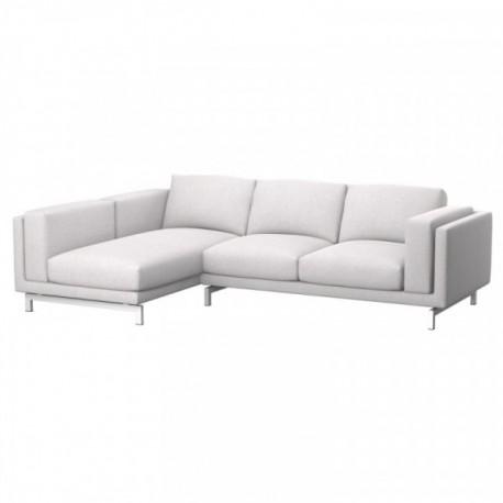 NOCKEBY Funda para sofá de 2 plazas con chaiselongue, izquierda