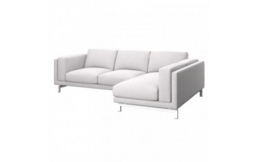 NOCKEBY Funda para sofá de 2 plazas con chaiselongue dcha